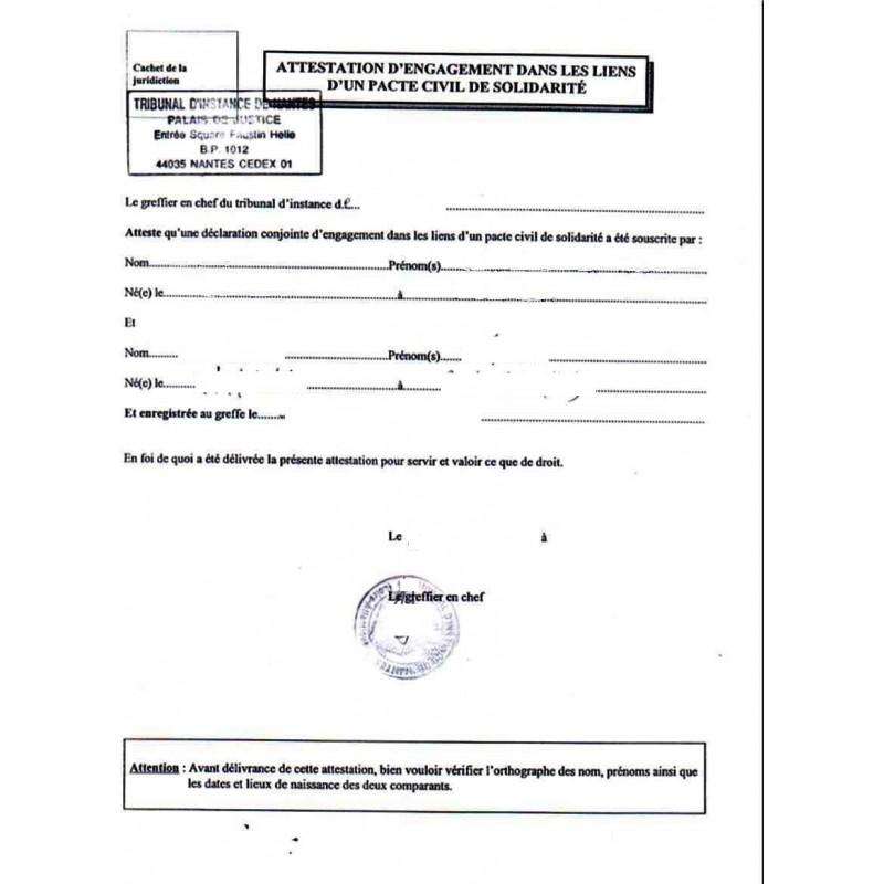 Certificado de pareja de hecho