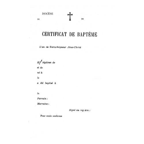 Acte de baptême