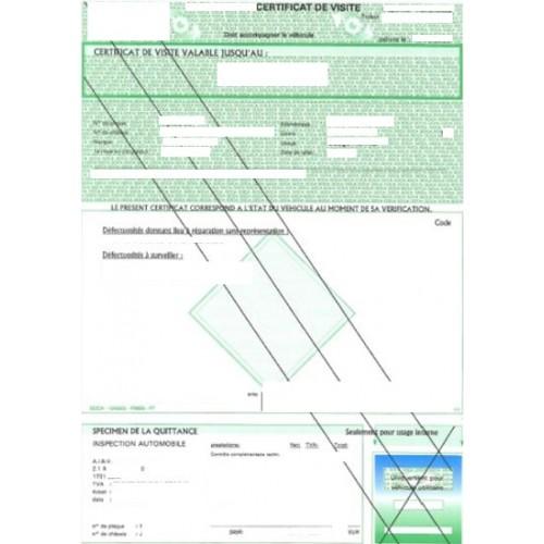 Certificado de seguro de automóvil